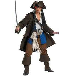 Pirate Costumes for Couples, Captain Jack Sparrow costume, Pirates of the Caribbean Costumes, #N4787