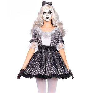Sexy Rag Doll Costume, Hot Sale Halloween Costume, Cheap Porcelain Doll Costume, Fantasy Costume, #N10679