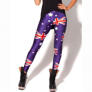 Flag of Australia Pattern Leggings, High Waist Leggings, High Quality Ladies Leggings, Fashion Seamless Jeggings, Yoga Jeggings, Sports Jeggings, Daily Casual Leggings, #L10319