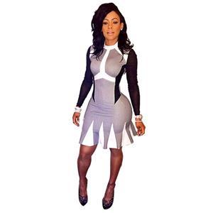 long sleeve print dress, Print keyshiakaoir Brand Dress, sexy spandex dress club wear, Sexy Clubwear Stretchy Bandage Bodycon Dress, Celebrity Dress, #N8580