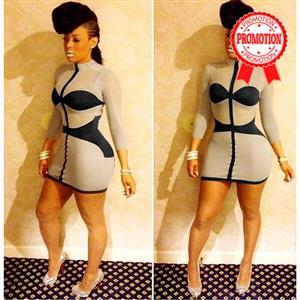 striped bandage bodycon dress, Sexy Mini Bodycon Bandage Dress, sexy party clubwear cocktail dress, #N8581