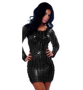 Sexy Black Mini Dress, Cheap Hollow Out Dress, Hot Sale Long Sleeves Dress, Women