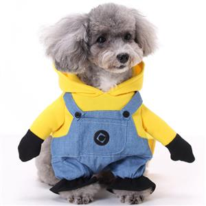Dog Minions Costume, Pet Dressing up Party Clothing, Dog