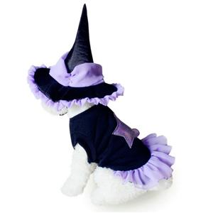 Dog Witch Costume, Pet Dressing up Party Clothing, Dog