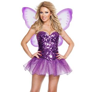 Sexy Purple Fairy Butterfly Cospaly Costume N14976