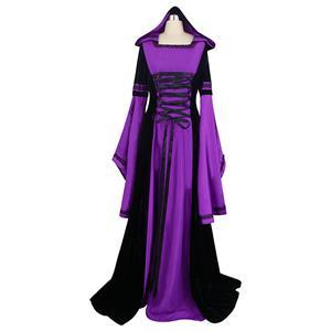 Purple Hooded Robe Costume, Deluxe Purple Hooded Robe, Deluxe Hooded Robe, #N5678