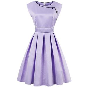 Vintage Dresses for Women, Sexy Dresses for Women Cocktail Party, Casual Midi dress, Purple Swing Daily Dress, Women