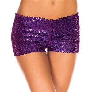 Purple Sequin Short, Purple Sequin Booty Shorts, Sequin Go Go Shorts, #N5136