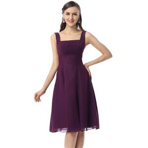 Vintage Purple Graduation Dresses, Cheap Prom Dress, Girls Cheap Homecoming Dresses, Hot Sale Square Neckline Dress, A-line Knee-Length Dresses, #F30049