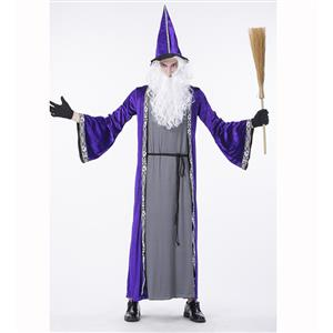 Premier Dark Sorcerer Costume, Premier Dark Sorcerer Adult Costume, Dark Sorcerer Adult Costume, Wizard Adult Costume, Wizard Costume for Men, #N14761
