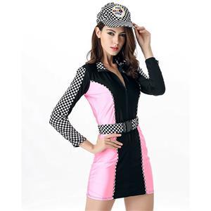 Racer Girl Costume, Sexy sport Costume, sport Lingerie, Racer Romper, Sexy Dress, #N11681