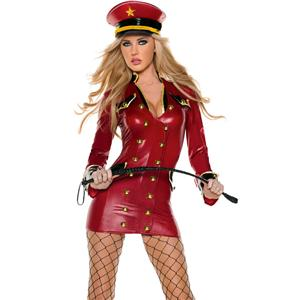 Red Army Girl Costume, Red Military Costume, Red Military Jacket, #N4970