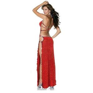 Lingerie Long Gown, Red Mesh Gown, Red Mesh Long Gown, #N7369