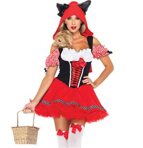 Red Riding Wolf Costume, Cartoon Costume, Sexy Red Riding Hood Costume, Disney Costume, #N4456