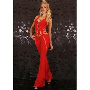 Sexy Jumpsuit For Ladies, Sexy Red GoGo Overall Jumpsuit , Party Jumpsuit,  #N5906