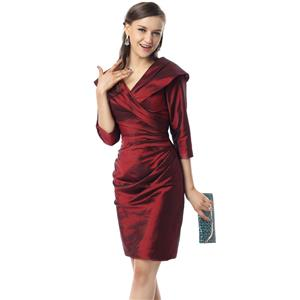Sexy Wine-Red Cocktail Dresses, Formal Dresses under 500 on sale, Cheap Cocktail Dresses. Women