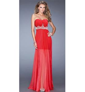 Sexy Long Gown, Lady Noble Fashion Red Gown, Cheap High Quality Floor-length Gown, Red A-line Gown, Christmas Lingerie, #N10085