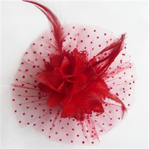 Red flower hair accessory, hair accessories flowers, Hair Accessorie, #J7214