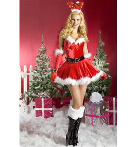 Sexy Santa Costumes, Reindeer Games Dress, Chritmas Gifts, #XT3001
