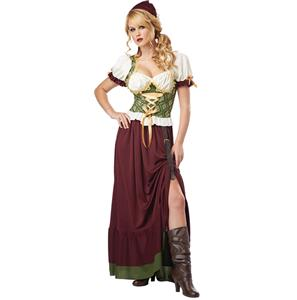 Renaissance Wench Costume, Tavern Maid Halloween Costume, Tavern Wench Costume, #N5566