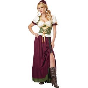 Renaissance Wench Costume, Tavern Maid Halloween Costume, Tavern Wench Costume, #N5566