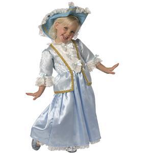 Renaissance princess girl costume, Renaissance princess child girl costume, blue princess costume for girl, #N5989