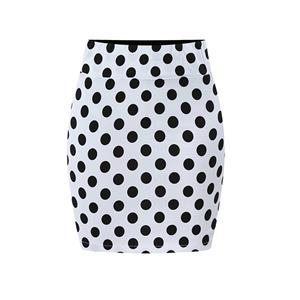 Dot Print  Bodycon Skirt , High Waist Skirt, Midi Skirt Bodycon, Office Skirts, Fitting Skirt, Pencil Skirt, Package Hip Skirt, Retro Skirt #N17713