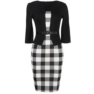 Plus Size Dresses, Casual Dresses, Vintage Mermaid Dress, Cheap Dress for women, Retro Dress for women, Wiggle Dress, One-Piece Dress, #N12101
