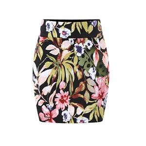 Floral Print Skirt, High Waist Skirt, Midi Skirt Bodycon, Office Skirts, Fitting Skirt, Pencil Skirt, Package Hip Skirt, Retro Skirt #N17706
