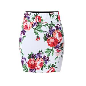 Floral Print Skirt, High Waist Skirt, Midi Skirt Bodycon, Office Skirts, Fitting Skirt, Pencil Skirt, Package Hip Skirt, Retro Skirt #N17700