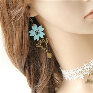 Retro Alloy Earrings, Gothic Style Earrings, Fashion Flower Modeling Earrings for Women, Vintage Alloy Flower Earrings, Casual Flower Earrings, Victorian Gothic Flower Earrings, Fashion Earrings, #J18438