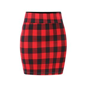 Plaid Skirt, High Waist Skirt, Midi Skirt Bodycon, Office Skirts, Fitting Skirt, Pencil Skirt, Package Hip Skirt, Retro Skirt #N17710