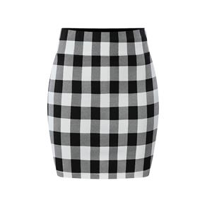 Plaid Skirt, High Waist Skirt, Midi Skirt Bodycon, Office Skirts, Fitting Skirt, Pencil Skirt, Package Hip Skirt, Retro Skirt #N17711