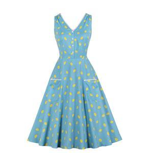 Print Midi Dress, Vintage Print Cocktail Party Dress, Fashion Casual Office Lady Dress, Sexy Tea Party Dress,Vintage Dresses 1950