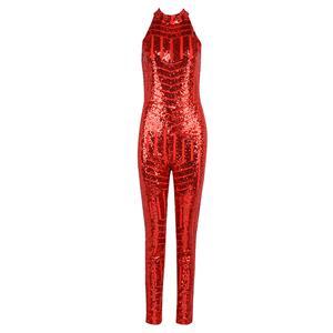 Sequins Jumpsuit for Women, Stripe Jumpsuit, Sleeveless Jumpsuit, Halter Jumpsuit, Backless Jumpsuit, Bodycon Jumpsuit for Women, #N15264