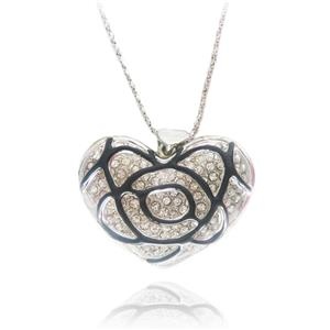 Retro Vintage Style Necklace, Vintage Style Heart Shape Necklace, Heart Shape Pendant Necklace, #J7412