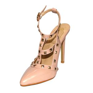 Studded Stiletto High-Heeled Sandals, Studded Spike High Heels, T-Strap Rivets High Heel Shoes, #SWS20127