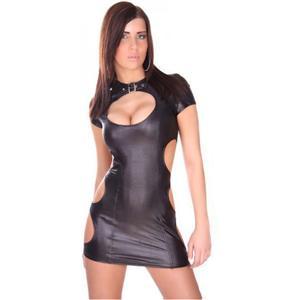 Keyhole Clubwear Style, Robe Revealing Keyhole Clubwear, Black Clubwear, #N4491