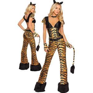 Rockin Tigress Costume, Rockin Tigress Cat Suit Costume, sexy Rockin Tigress Costume, #M3036