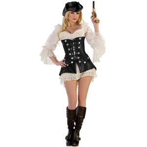 Rogue Pirate Dress Costume, Leather Pirate Costume, Pirate Costume, #N4566