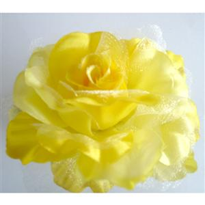 Beautiful hair accessories, Yellow Rose hair accessorie, flower hair accessory, #J7211