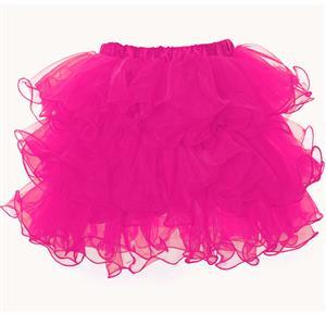 Rose Organza Skirt, Rose Petticoat, Sexy Skirt, #HG6768