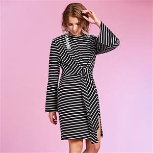 Stripe Day Dress, Sexy Women