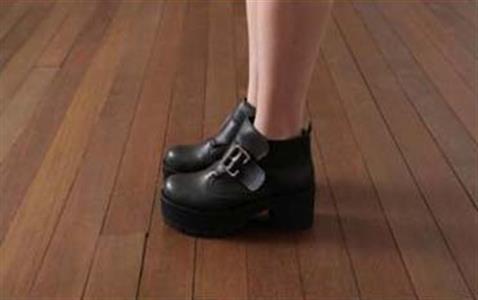 998bddf2345 Round Toe Black Punk Gothic Buckle Strap Chunky Heels Platform Ankle Boots  SWB20178
