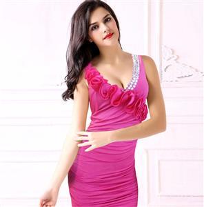 Halter Party Dress, Short Halter Top Dress, Halter Prom Dress, #N6950