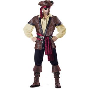 Rustic Pirate costume, Adult