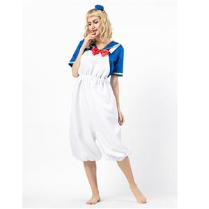 Sailor Costume, White Sailor Costume, Retro Sailor Cosplay Costume, Classical Style Sailor Role Play Costumes, Sailor Cosplay Set, Sailor Parentage Clothes, The Parent-child Attire, #N18303