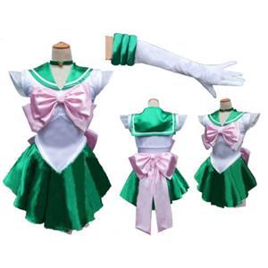Sailor Moon Kino Makoto Costume, Sailor Moon Costume, Sailor Moon Green and White Costume, Sailor Jupiter Costume, #N9567