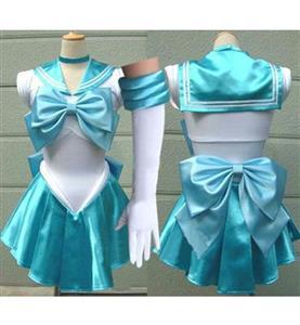 Sailor Moon Mizuno Ami Costume, Sailor Mercury Costume, Sailor Moon White and Blue Costume, #N9568
