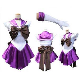 Sailor Moon Tomoe Hotaru Costume,  Sailor Saturn Costume, Sailor Moon  Purple and White Costume, #N9569